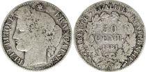 France 50 Centimes Cérès - III e République - Années Variées 1871 à 1895