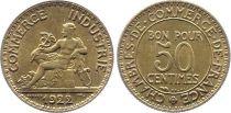France 50 Centimes Chambre de Commerce - 1922