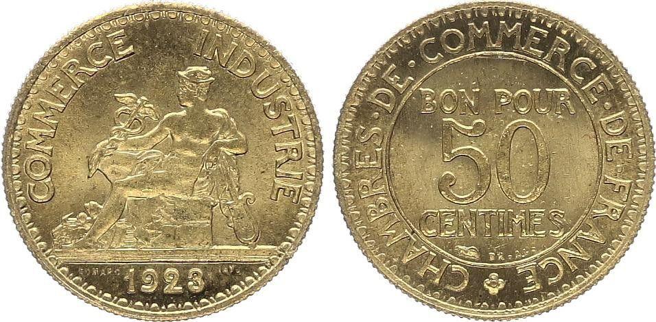 France 50 Centimes Chambre de Commerce - 1923