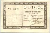 France 50 Centimes Coutiches Commune - 1914