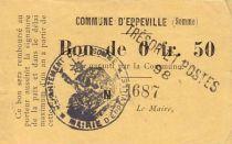 France 50 Centimes Eppeville n° 1687