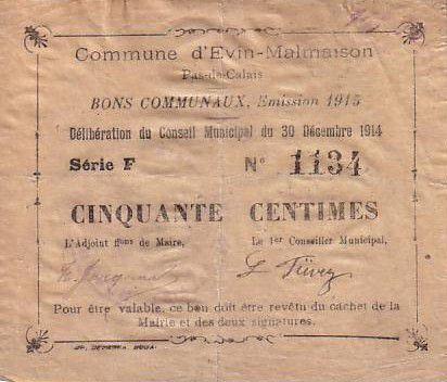 France 50 Centimes Evin-Malmaison