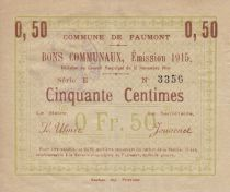 France 50 Centimes Faumont Commune - 1915