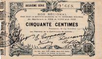 France 50 Centimes Fourmies - Deuxième série -  08/05/1916