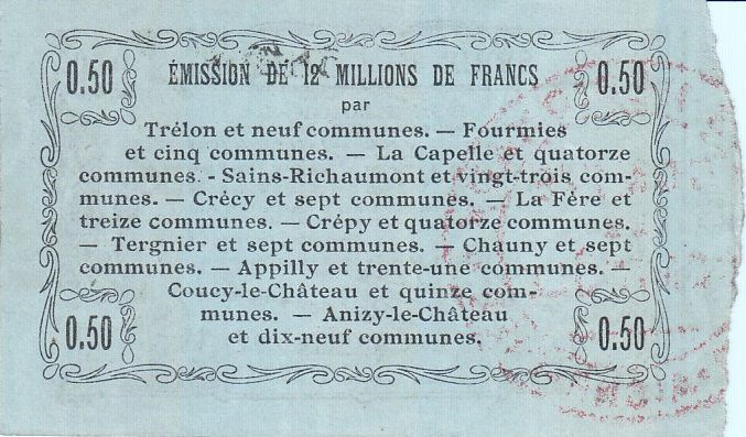 France 50 Centimes Fourmies - Série 34 -  08/05/1916