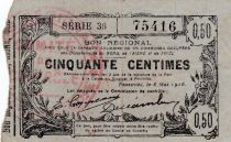 France 50 Centimes Fourmies - Série 36 - 08/05/1916