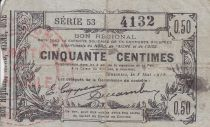 France 50 Centimes Fourmies Commune - 1916