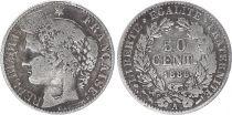France 50 Centimes Francs Ceres - III ème République - 1886 A Paris