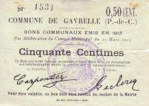 France 50 Centimes Gavrelle