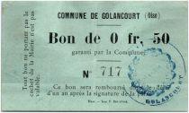 France 50 Centimes Golancourt Commune