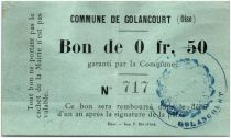 France 50 Centimes Golancourt Commune
