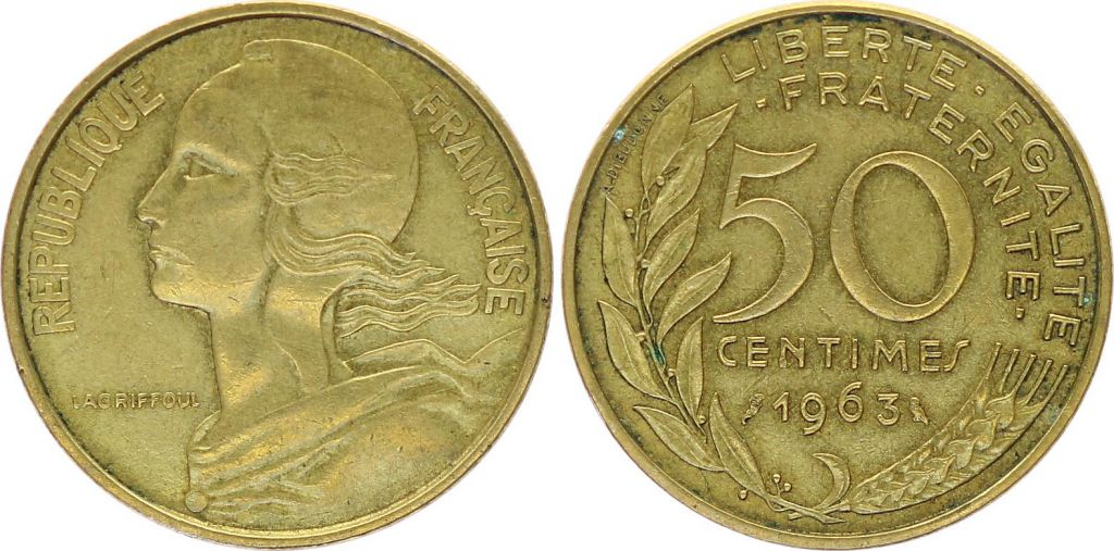 France 50 Centimes Lagriffoul - Marianne - 1963