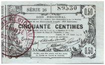 France 50 Centimes Laon Régional - 1916