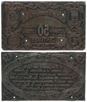 France 50 Centimes Le-Mans Pair of printing plates