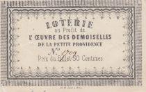 France 50 Centimes Loterie Oeuvre des Demoiselles de la Providence - Orléans - VF