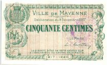 France 50 Centimes Mayenne City - 1917