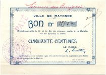 France 50 Centimes Mayenne City