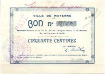 France 50 Centimes Mayenne Ville