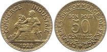 France 50 Centimes Mercury seated - 1922