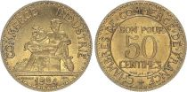 France 50 Centimes Mercury seated - 1924