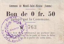 France 50 Centimes Mesnil-Saint-Nicaise