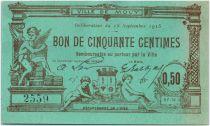 France 50 Centimes Mouy Ville - 1915