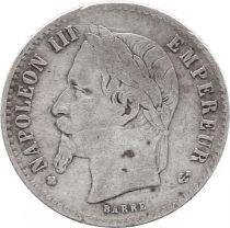 France 50 Centimes Napoleon III - Laureate head 1868 BB Strasbourg