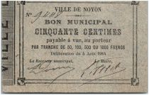 France 50 Centimes Noyon City - 1914