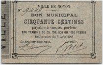 France 50 Centimes Noyon Ville - 1914