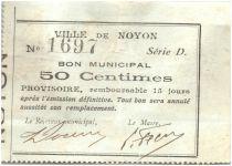 France 50 Centimes Noyon Ville