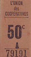 France 50 Centimes Paris Union des coopératives