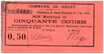 France 50 Centimes Regny Bon Municipal - 1915