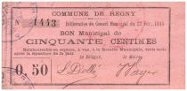 France 50 Centimes Regny Commune - 1915
