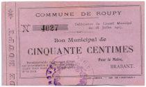France 50 Centimes Roupy City - 1915