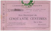 France 50 Centimes Roupy Commune - 1915