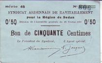 France 50 Centimes Sedan Synd. de ravitaillement