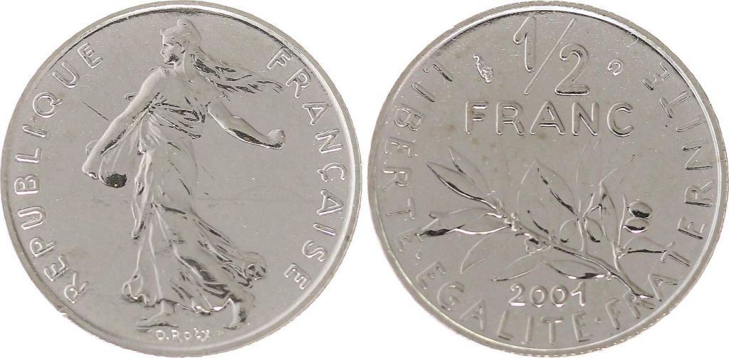 France 50 Centimes Seed Sower - 2001 BU