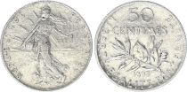 France 50 Centimes Semeuse - 1899 - Argent