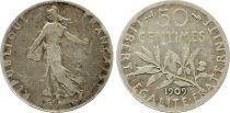 France 50 Centimes Semeuse - 1909 Argent