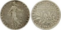 France 50 Centimes Semeuse - 1909 Silver
