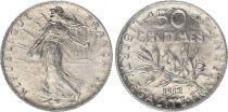 France 50 Centimes Semeuse - 1912 - Argent