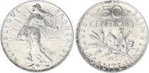 France 50 Centimes Semeuse - 1915 - Argent