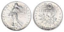 France 50 Centimes Semeuse - 1918 - Argent