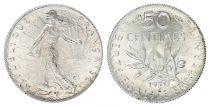 France 50 Centimes Semeuse - 1920 - Argent