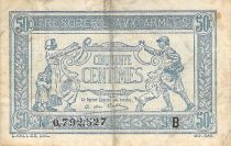 France 50 Centimes Soldier and family - 1917 Serial B - F