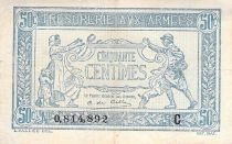 France 50 Centimes Soldier and family - 1917 Serial C - F+
