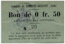 France 50 Centimes Sommette-Eaucourt City - 1915
