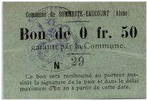 France 50 Centimes Sommette-Eaucourt Commune - 1915