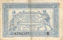 France 50 Centimes Trésorerie aux armées - 1917 Série B - TB
