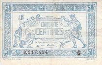 France 50 Centimes Trésorerie aux armées - 1917 Série G - PTB
